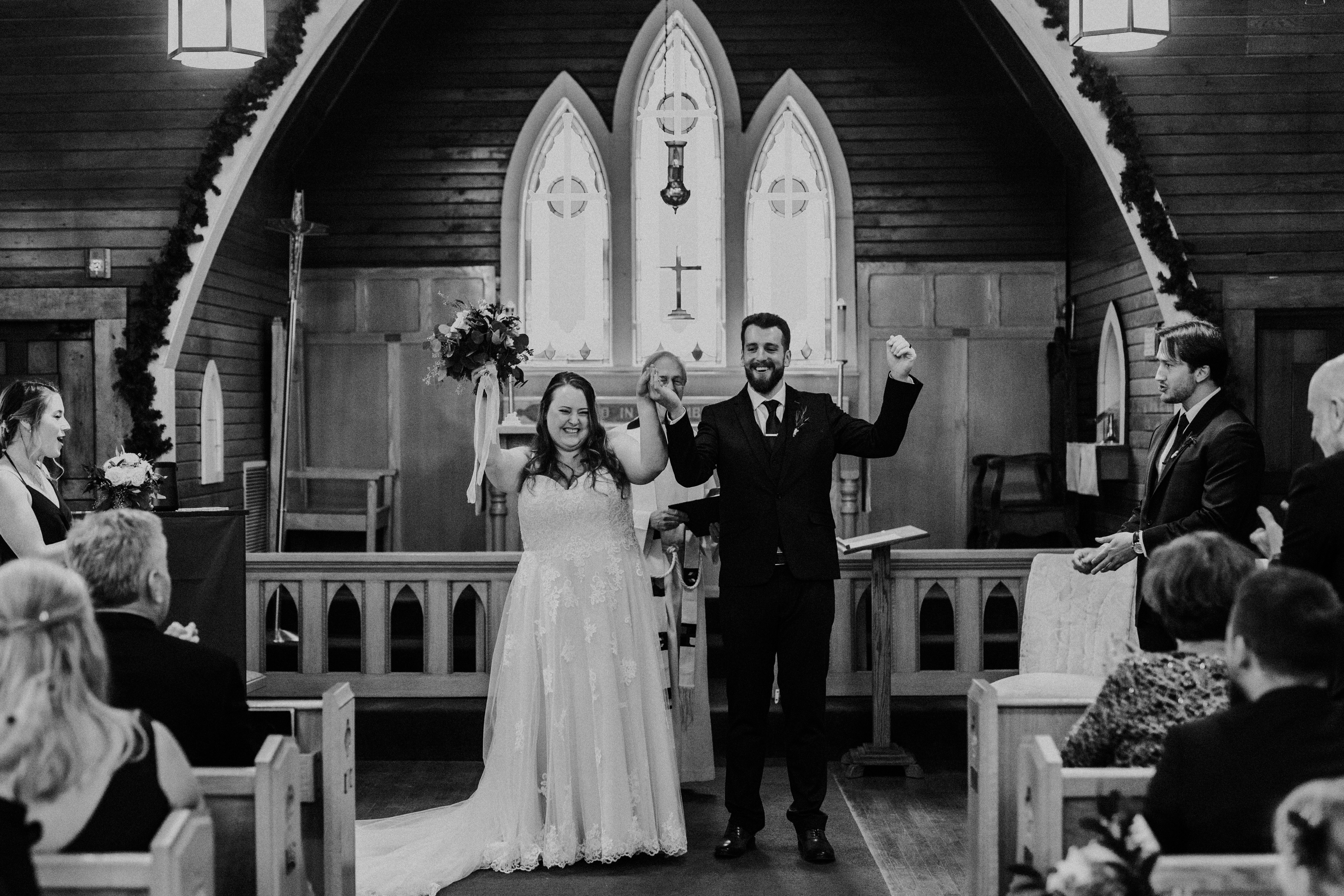 Banff Wedding - newlyweds