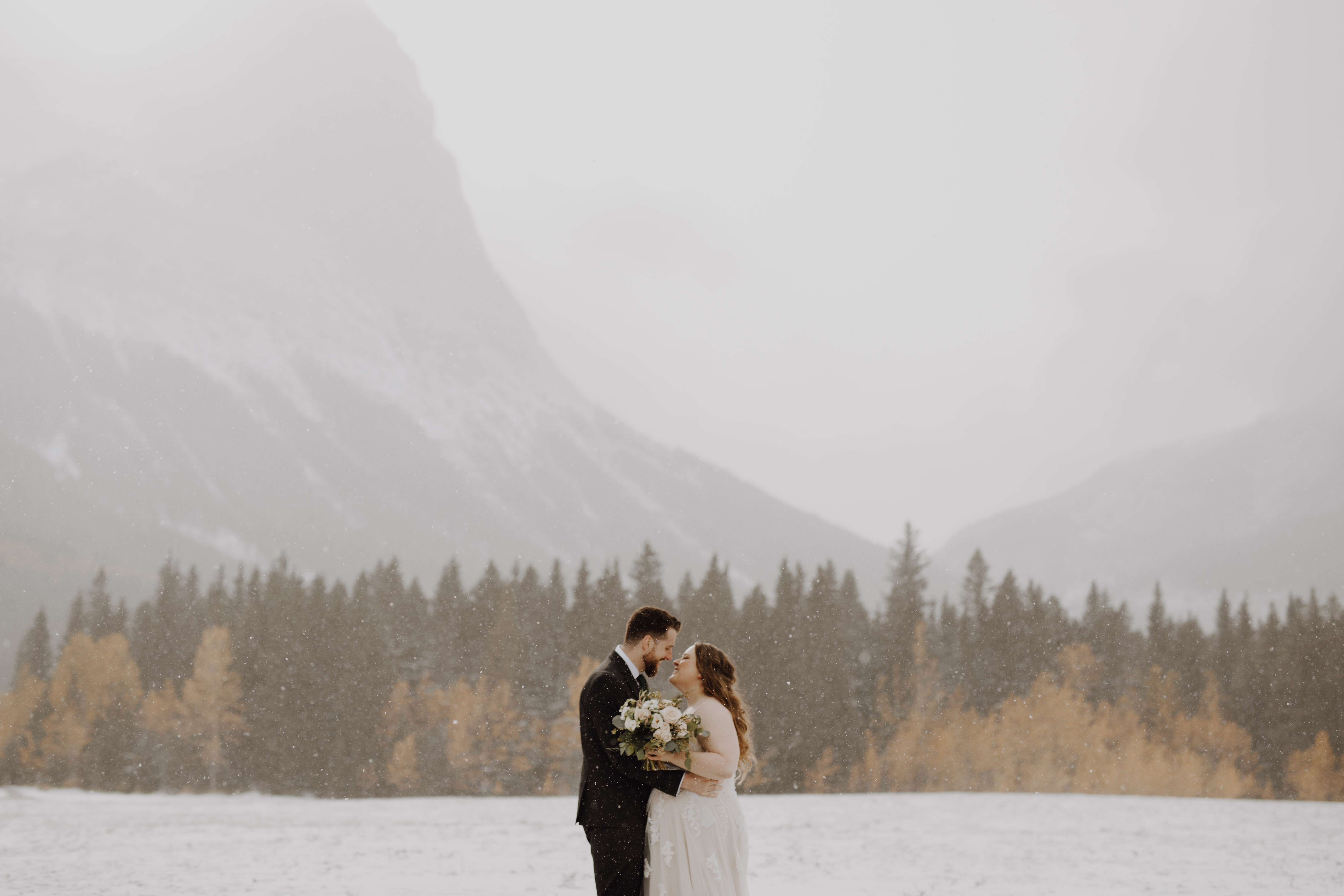 Banff Wedding in the winter