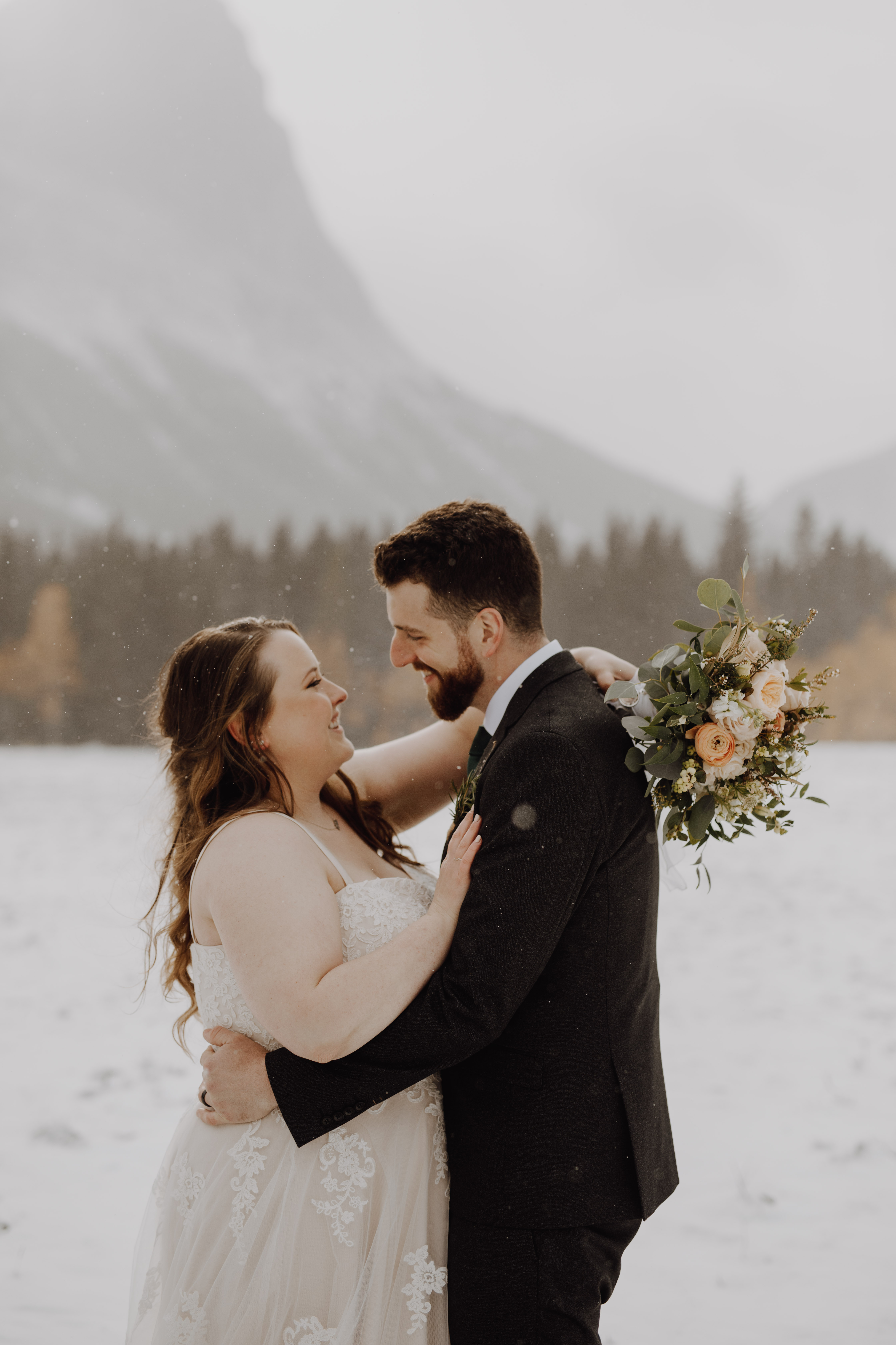 Snowy Mountain wedding
