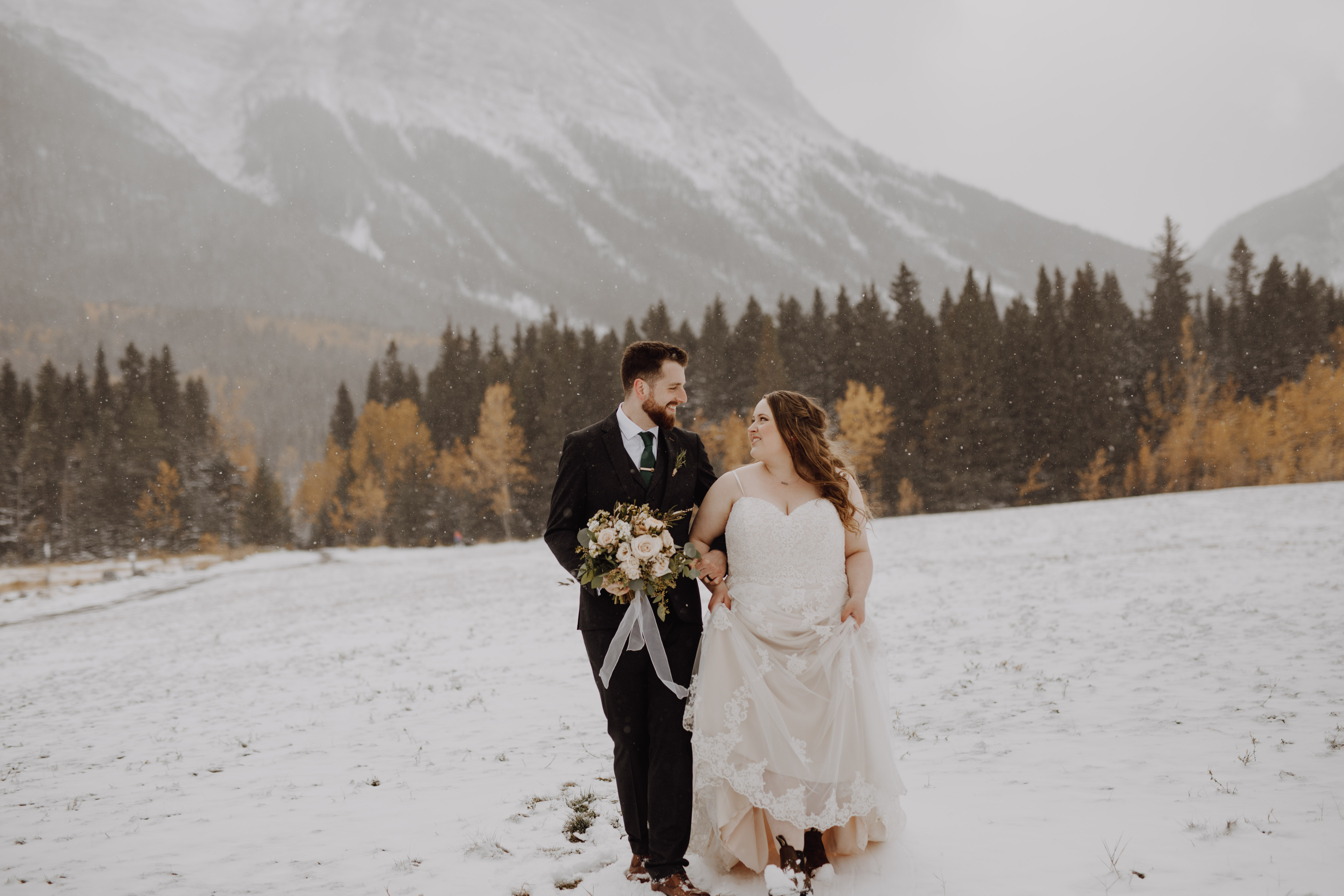 Winter wedding in Canmore