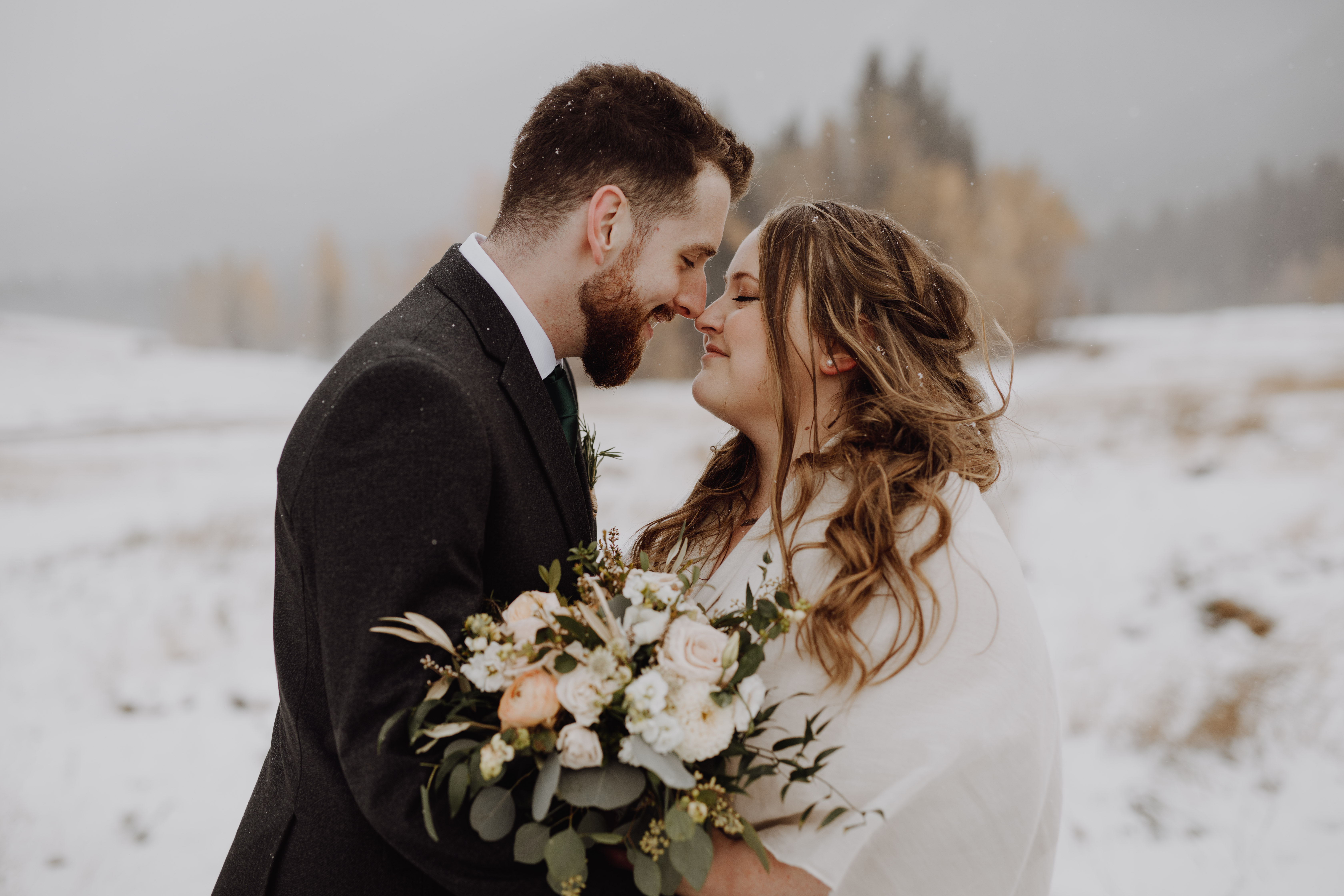 Banff Wedding - romantic winter wedding