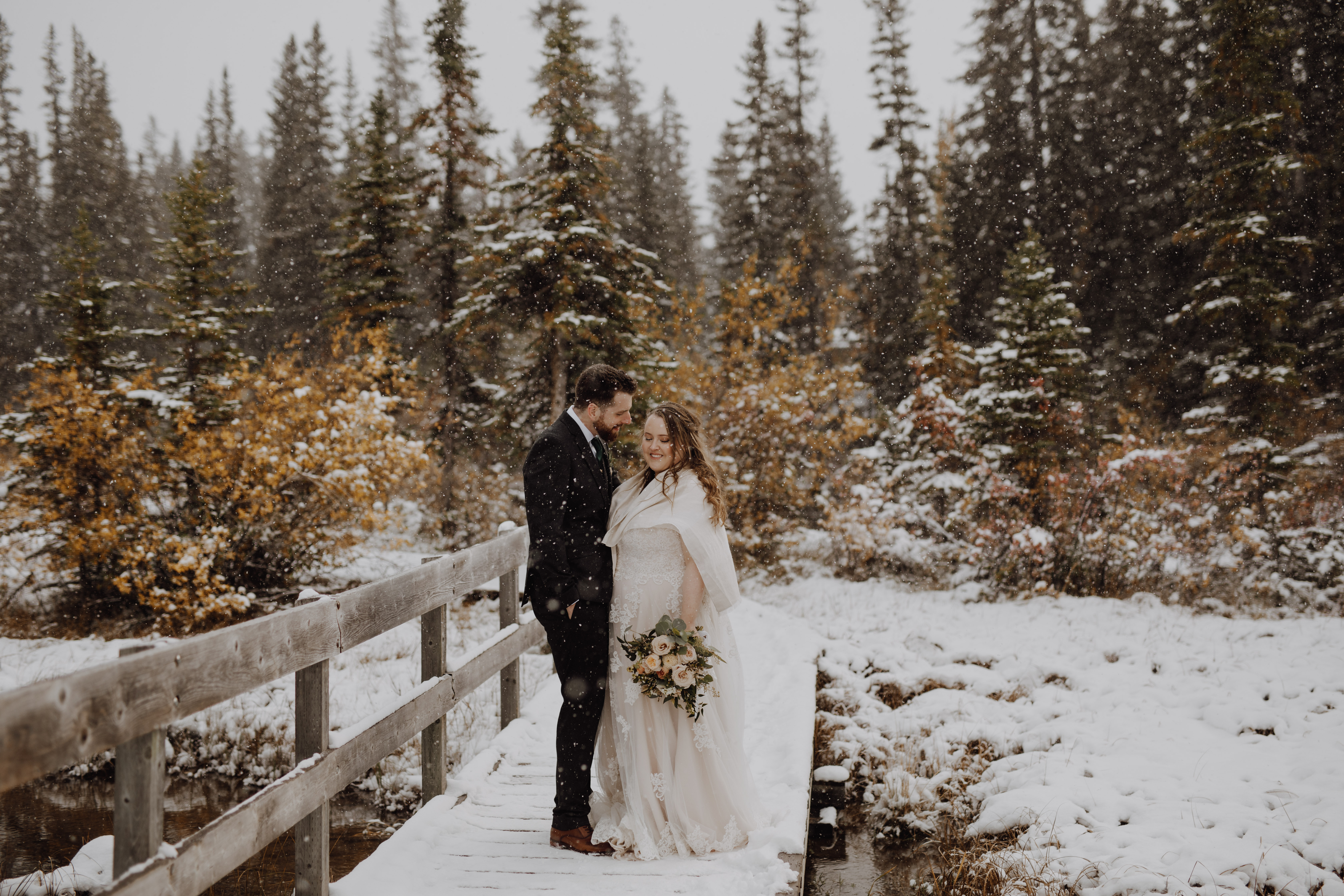 Banff Wedding - rustic mountain wedding