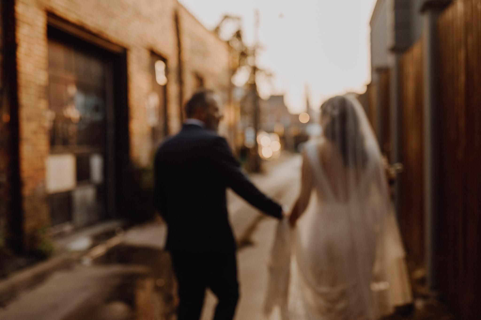 District 28 Wedding Toronto - Bride & groom white wedding