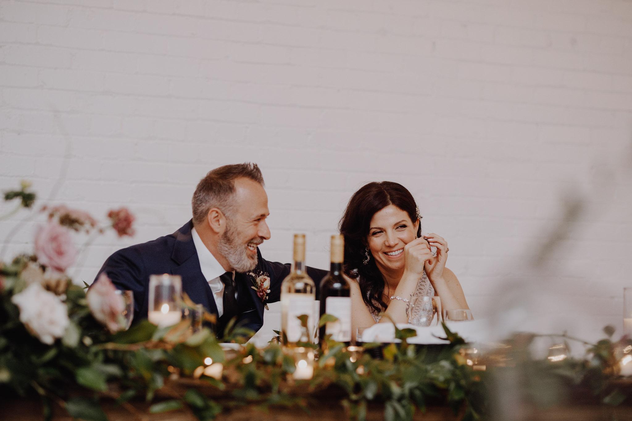 District 28 Wedding Toronto - head table