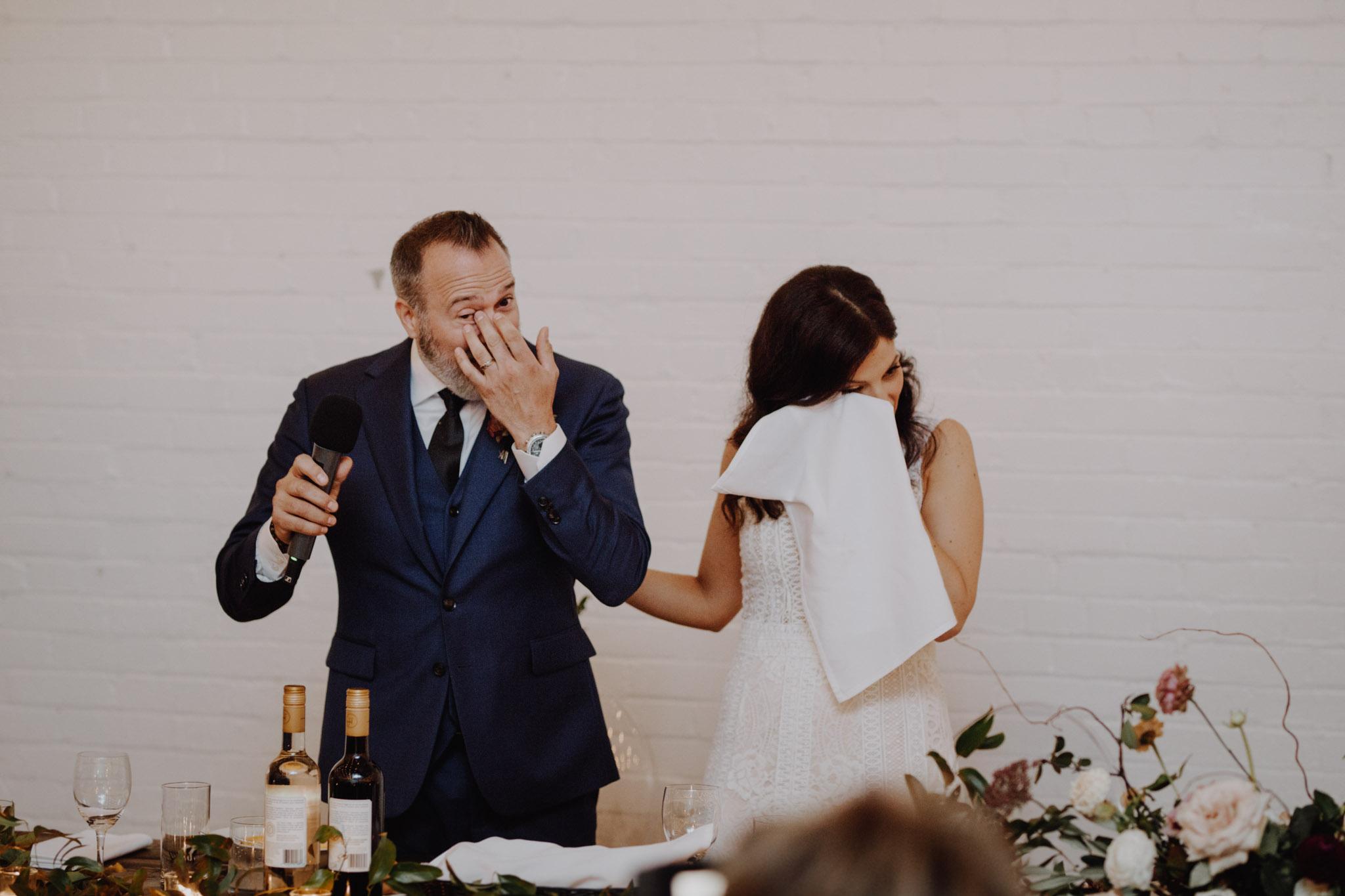 District 28 Wedding Toronto - teary eyed