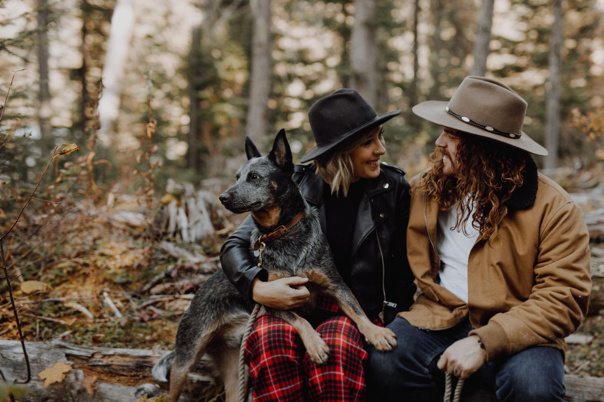 Emerald Lake - dog friendly engagement