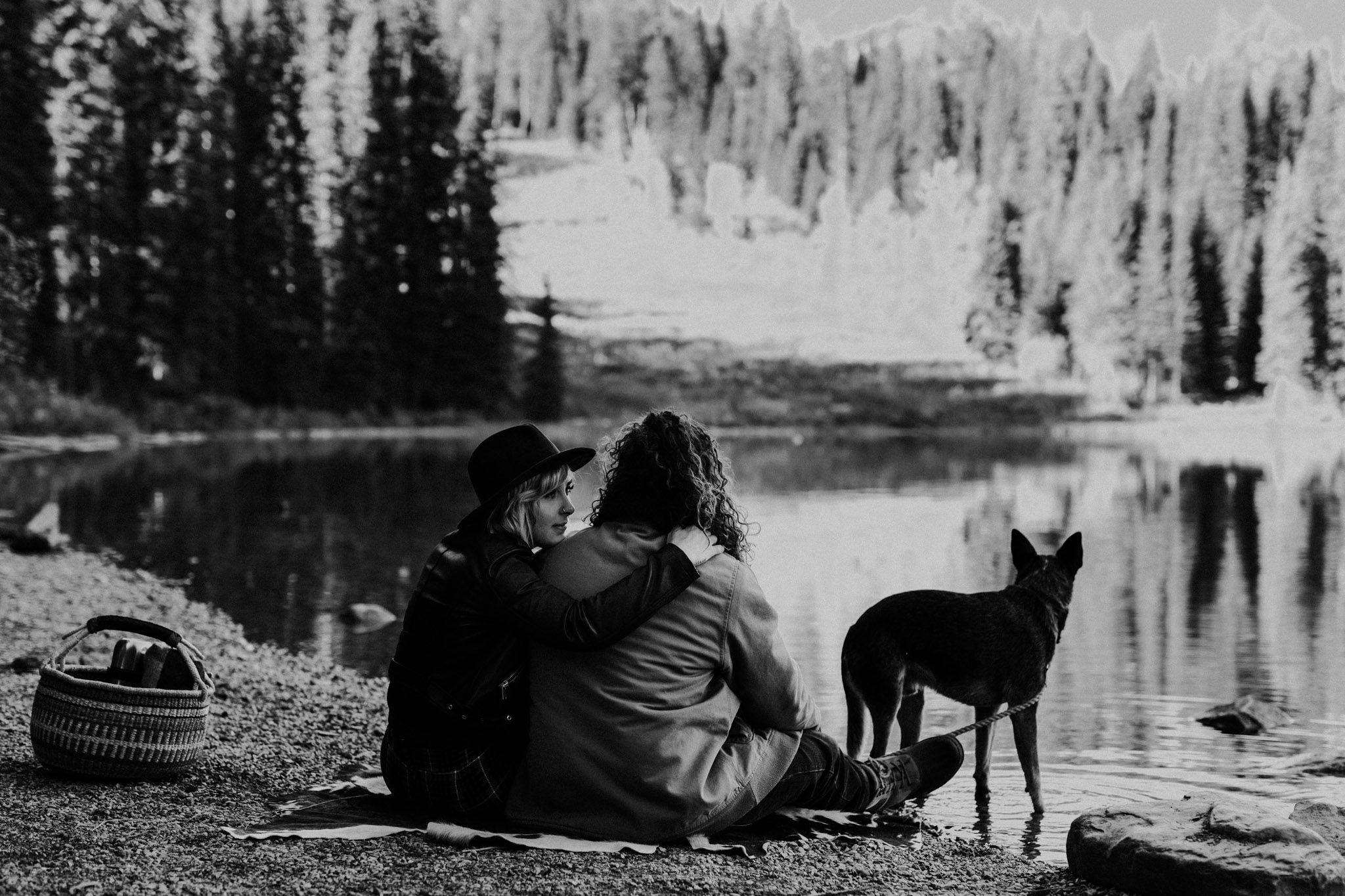 Emerald Lake - at the lake with the dog
