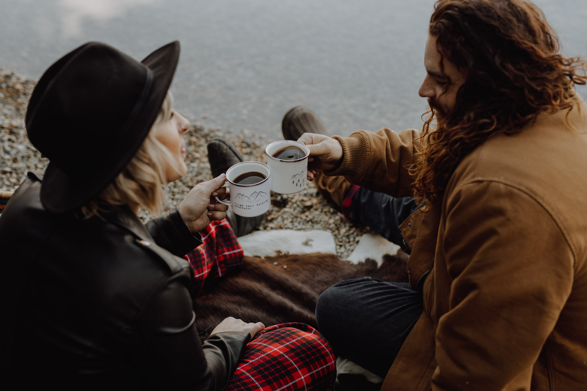 Emerald Lake - coffee by the lake