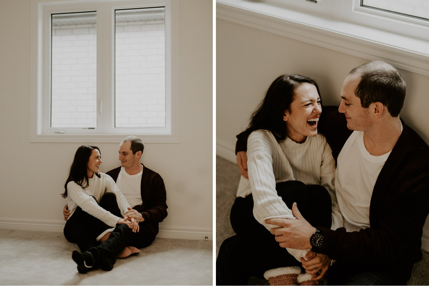 In Home Engagement Session - empty rooms