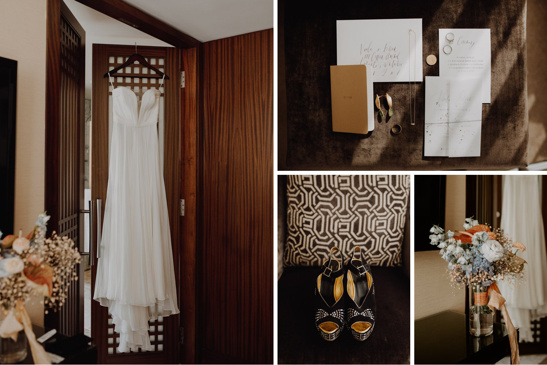 Casa La Palma Wedding - bridal flat lay details