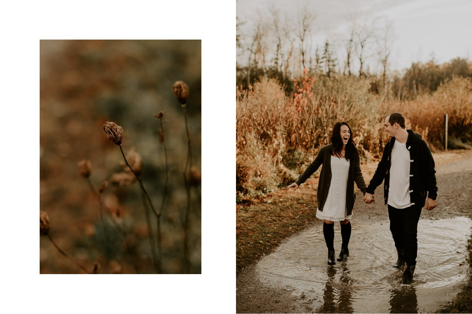 Playful Fall Engagement Session in Toronto