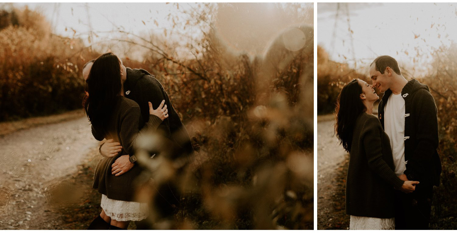 Romantic Fall Engagement Session in the park