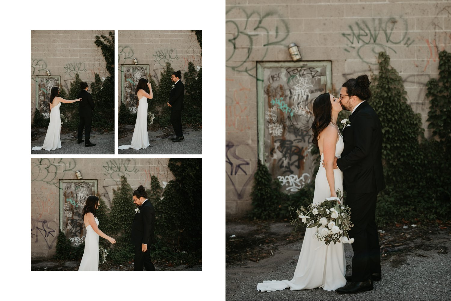 Archeo Wedding - Bride and groom first look