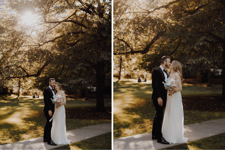 Casa La Palma Wedding - Bride and groom portraits in Toronto