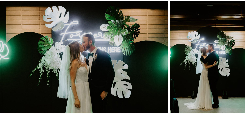 Casa La Palma Wedding - Tropical Neon Wedding - Pop Up Chapel - Love By Lynzie Wedding