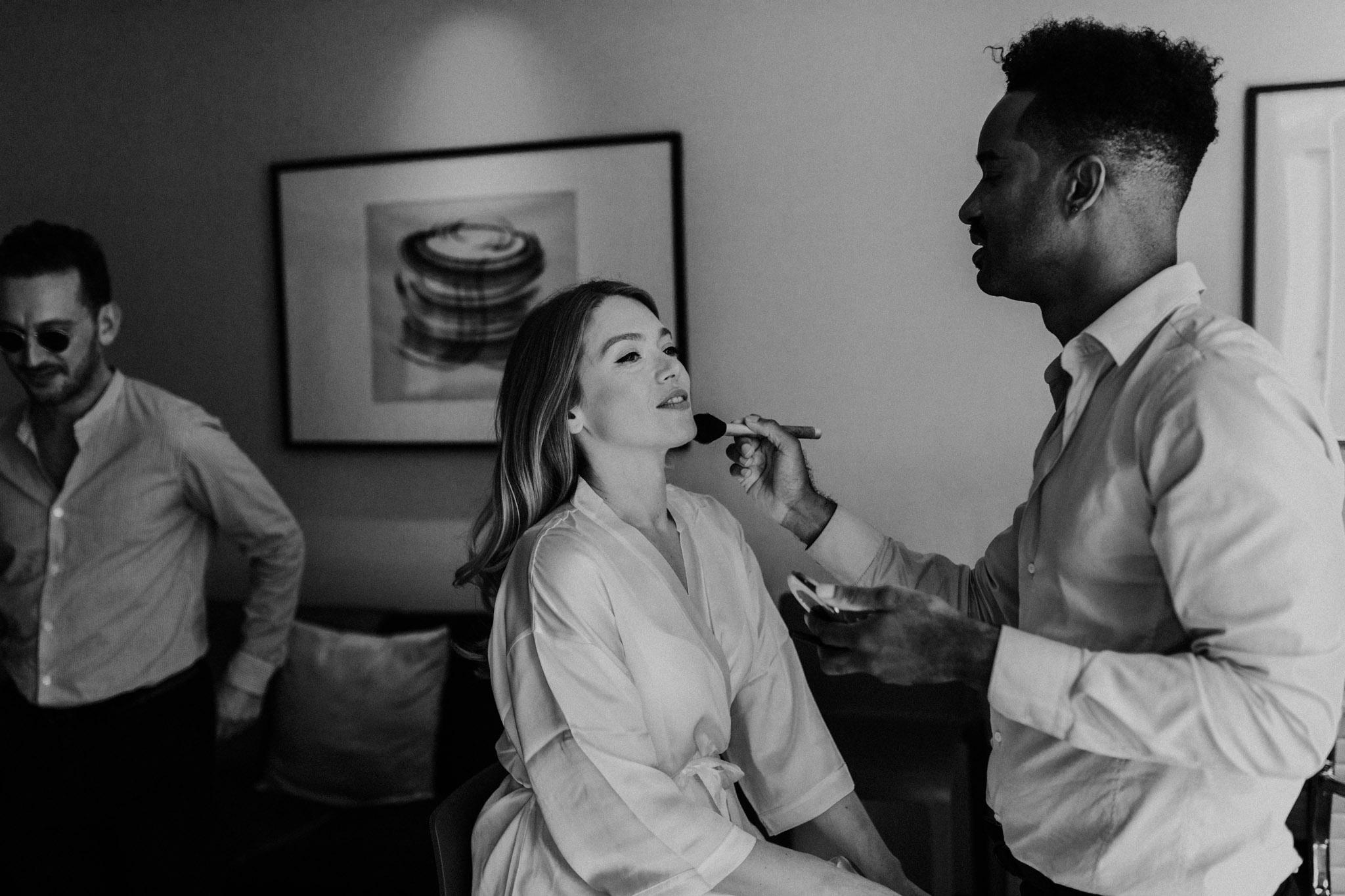 Casa La Palma Wedding - bridal makeup prep