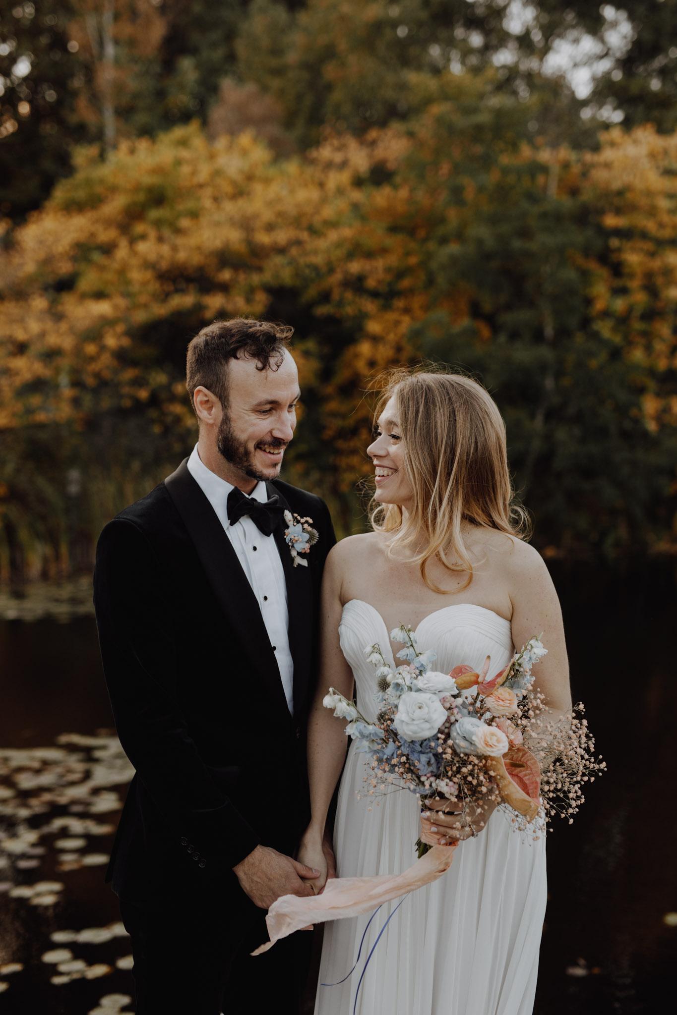 Casa La Palma Wedding - Bride and Groom by the water