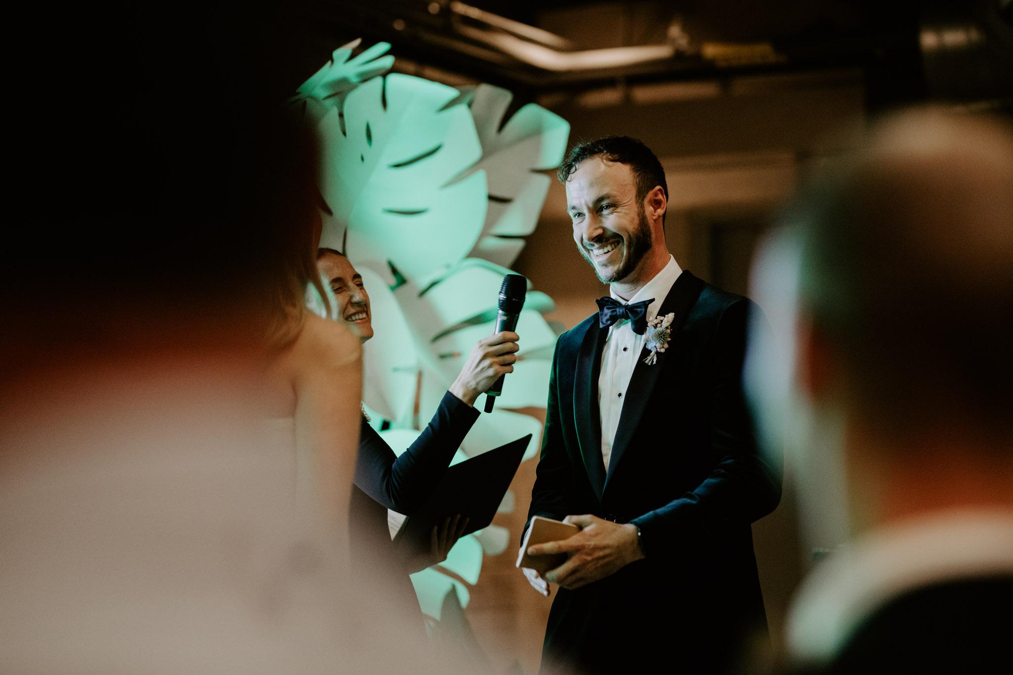 Casa La Palma Wedding - Grooms vows - Pop Up Chapel - Love By Lynzie Wedding