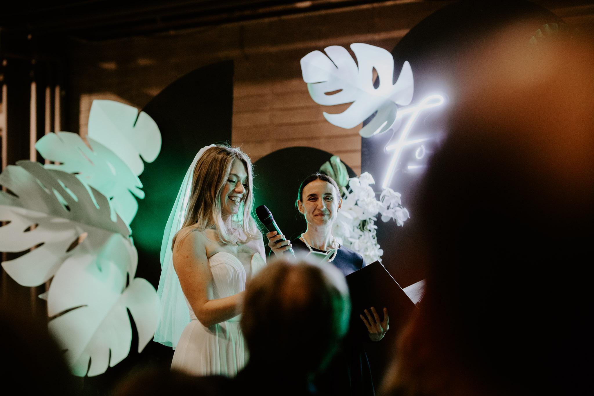 Casa La Palma Wedding - Bride's vows - Pop Up Chapel - Love By Lynzie Wedding