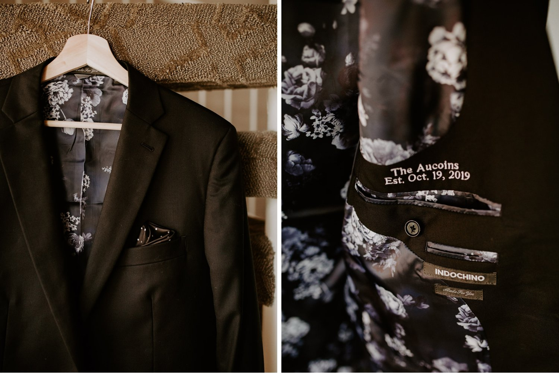 Liberty Village Wedding - grooms jacket details