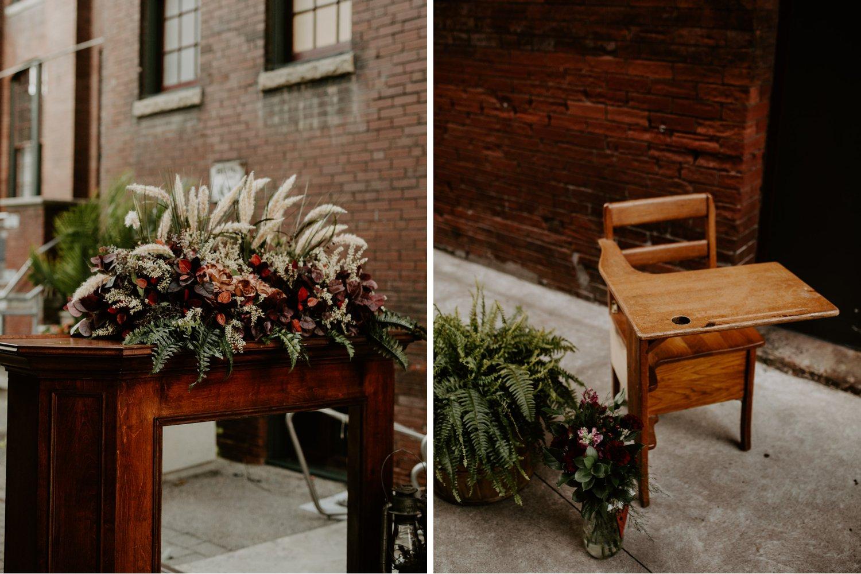 Liberty Village Wedding - outdoor alter details
