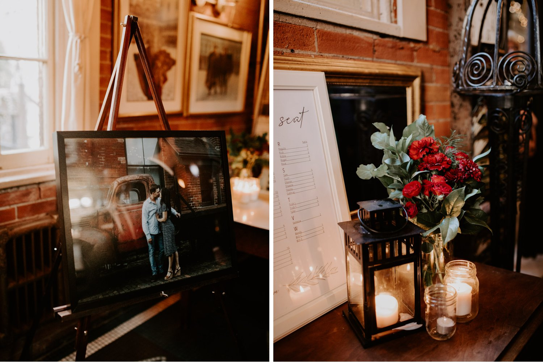Liberty Village Wedding - reception decor details