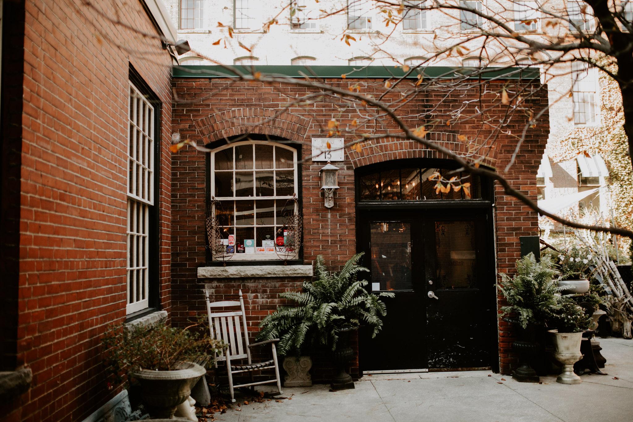 Liberty Village Wedding - Caffino entrance