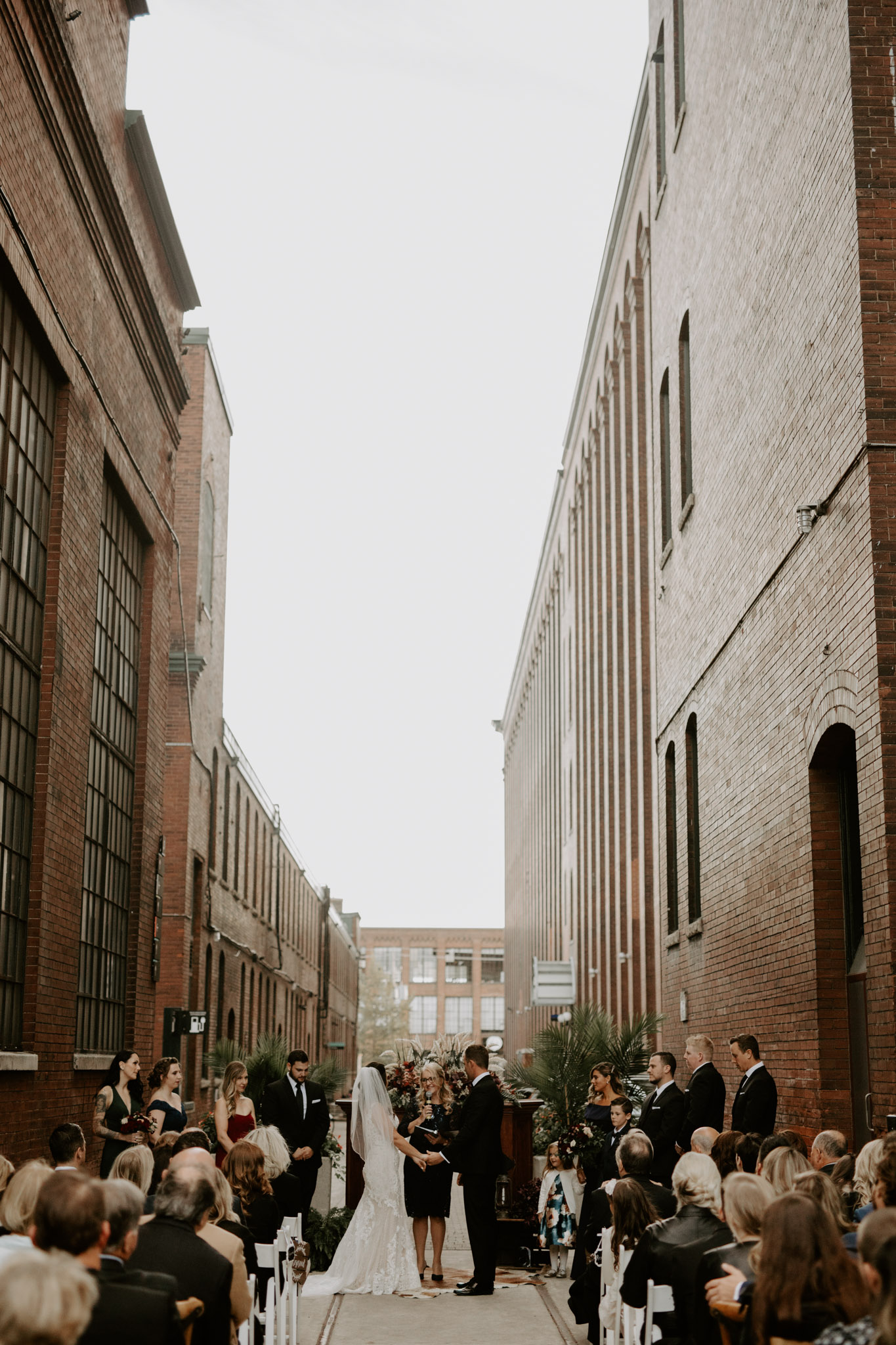 Liberty Village Wedding - bride and groom at the outdoor alter