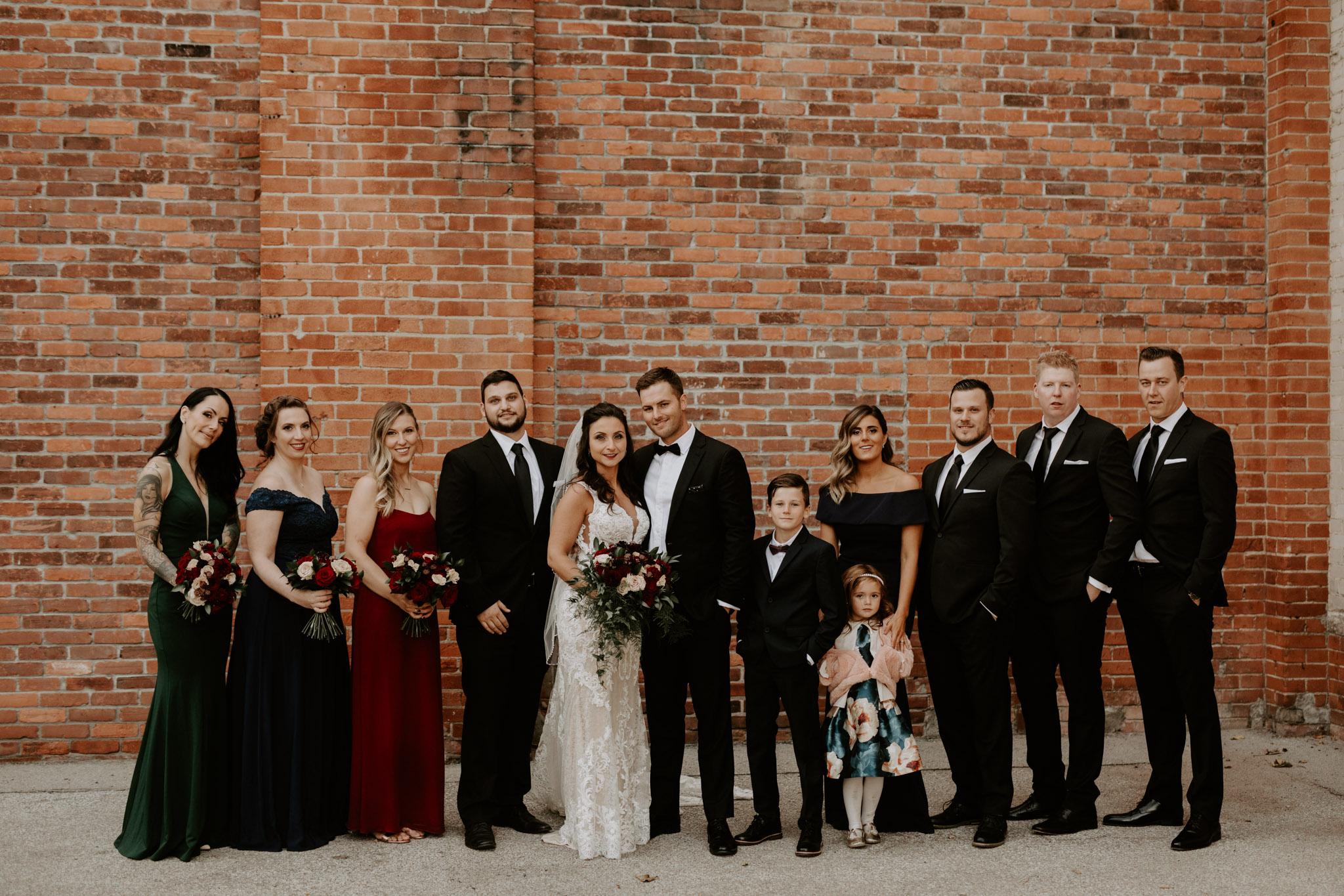 Liberty Village Wedding - wedding party portrait