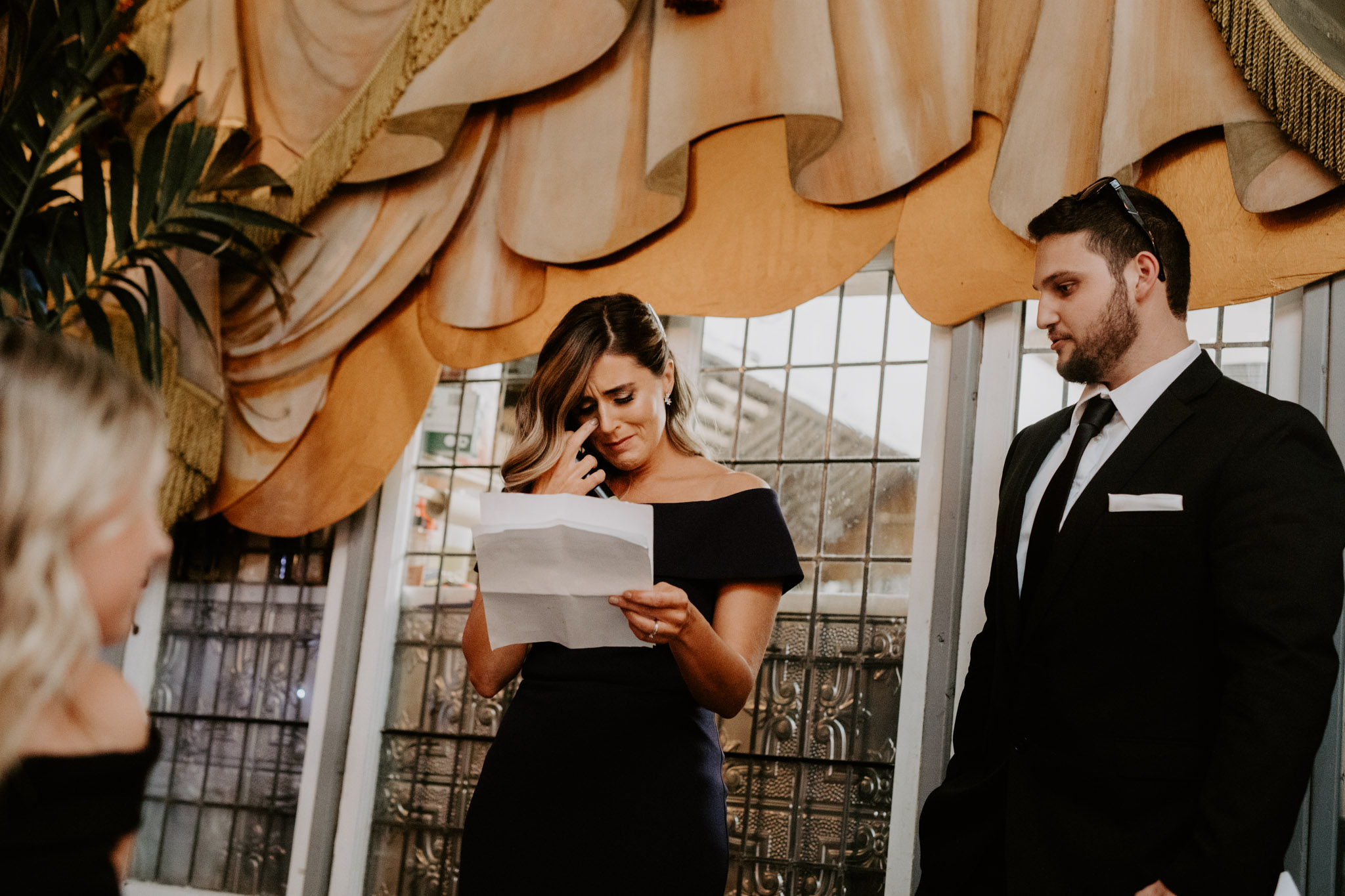 Liberty Village Wedding - emotional speeches
