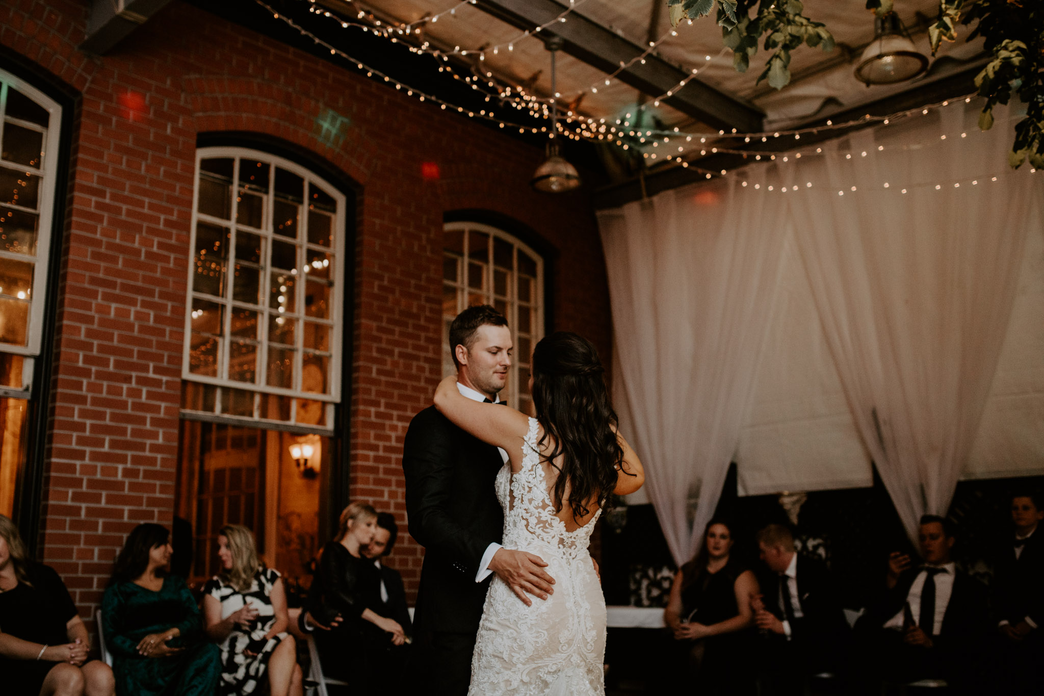 Liberty Village Wedding - first dance in Caffino