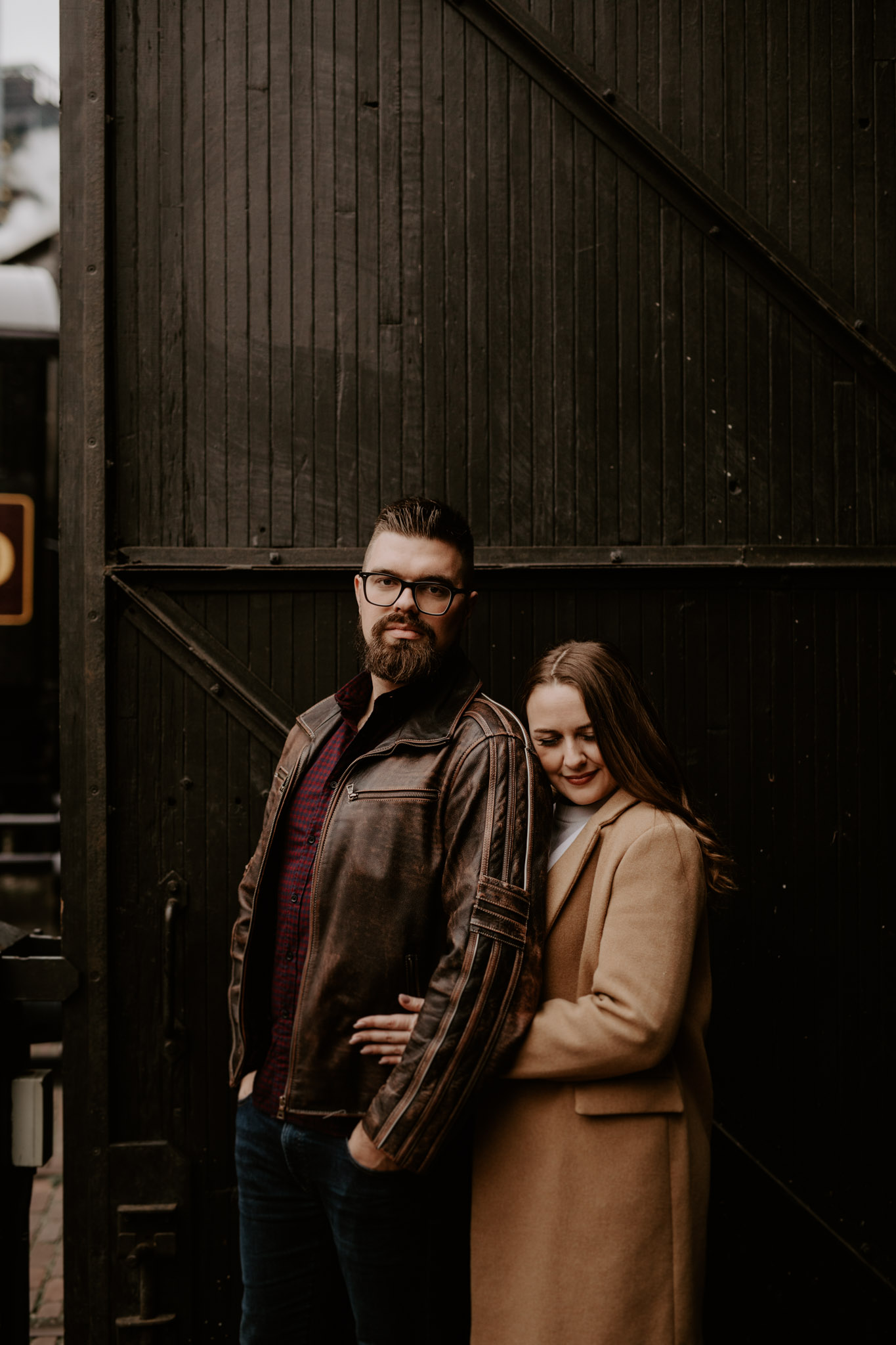 SteamWhistle Brewery Engagement - engagement portraits outside of brewery