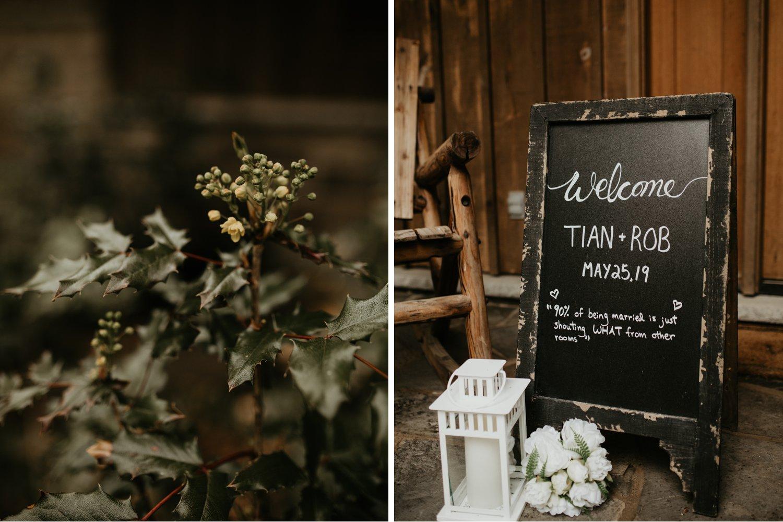 Serenity Cottage Wedding - decor details