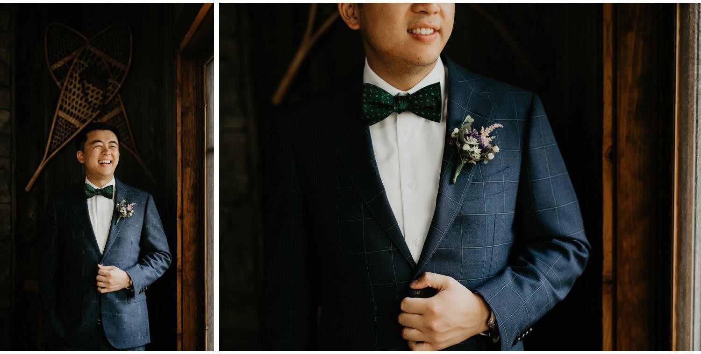 Serenity Cottage Wedding - groom portraits in cottage