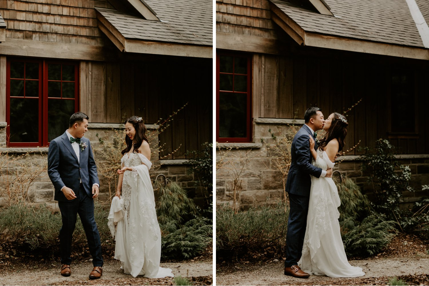Serenity Cottage Wedding - first look portraits