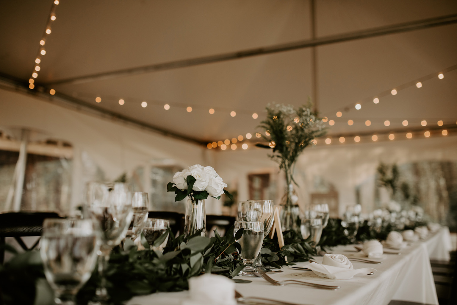 Serenity Cottage Wedding - reception decor