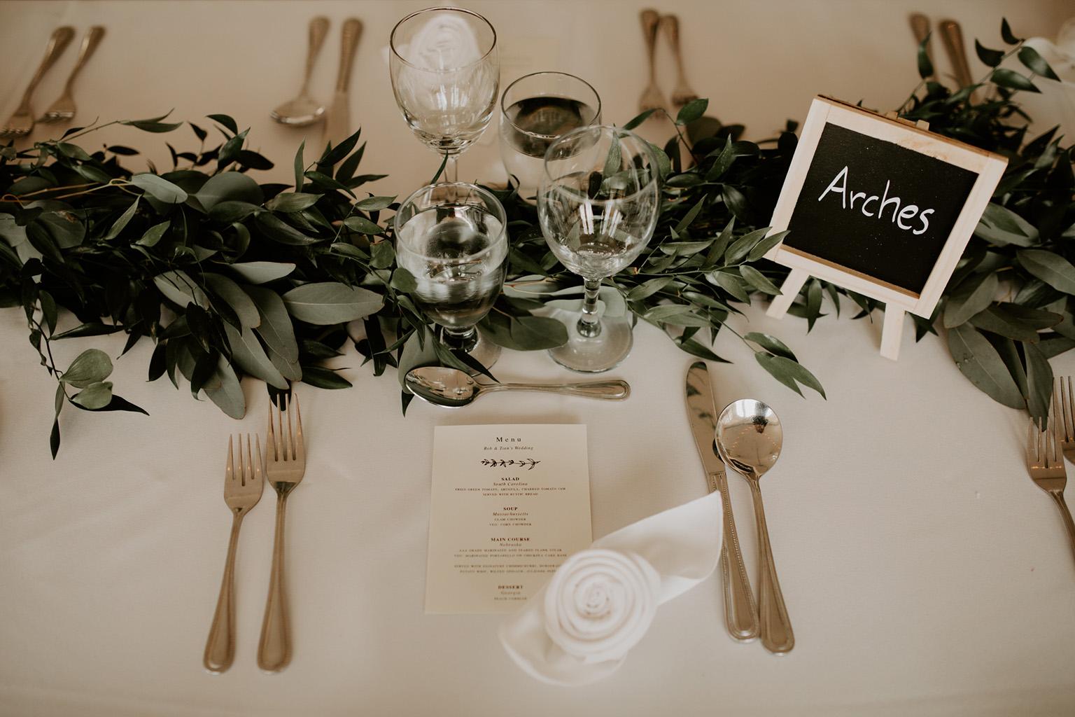 Serenity Cottage Wedding - chalkboard reception decor