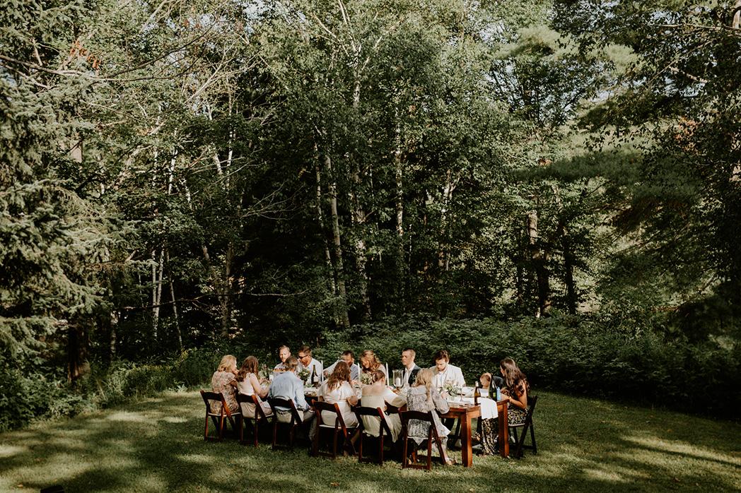 wedding reception in Lake of Bays